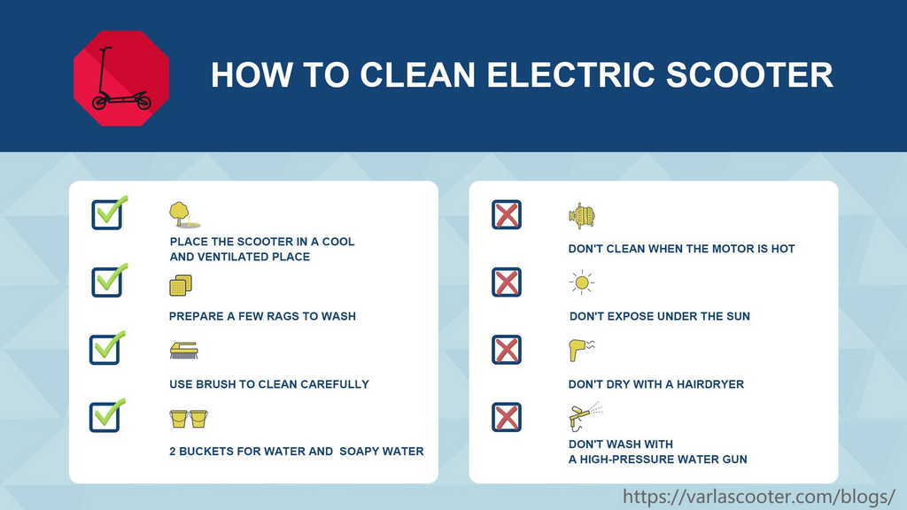 how to clean your electric scooter