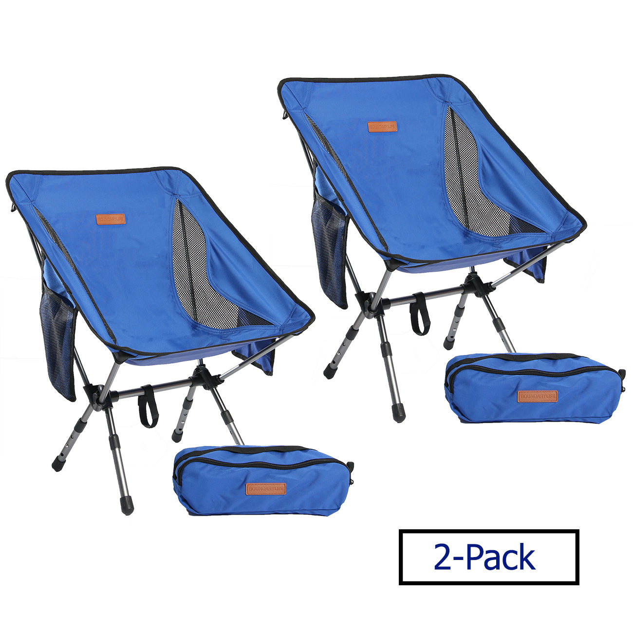 Camping Chair - 2-Pack Blue lightweight chairs