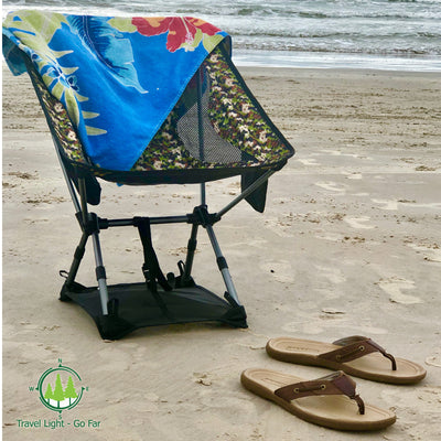 Chair Ground Sheet Sand Mat - Fits 14 x 13 inch chair footprint only (chair sold separately)
