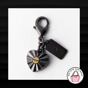 ULTRA RARE! NEW COACH DAISY RIVET HEART DINKY ROGUE BAG CHARM KEY FOB KEYCHAIN