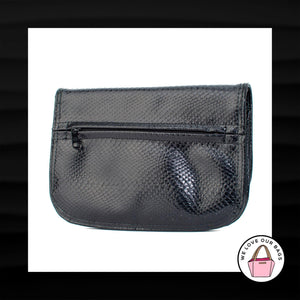 LARGE BUENO BLACK SNAKESKIN PYTHON LEATHER EVENING SLIM WALLET CLUTCH