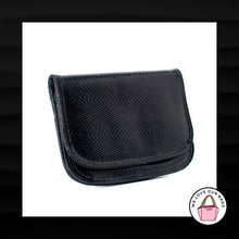 Load image into Gallery viewer, LARGE BUENO BLACK SNAKESKIN PYTHON LEATHER EVENING SLIM WALLET CLUTCH