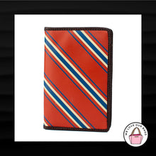 Load image into Gallery viewer, RED WHITE BLUE STRIPE PASSPORT COVER ID CASE HOLDER SLEEVE WALLET TRAVEL