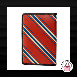 RED WHITE BLUE STRIPE PASSPORT COVER ID CASE HOLDER SLEEVE WALLET TRAVEL