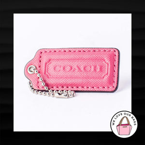 "2.25"" Medium COACH PINK CROSSGRAIN LEATHER KEYFOB BAG CHARM KEYCHAIN HANGTAG TAG"