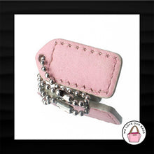 Load image into Gallery viewer, 1.5″ Small COACH WHITE PINK LEATHER KEY FOB KEYCHAIN HANG TAG WRISTLET WALLET