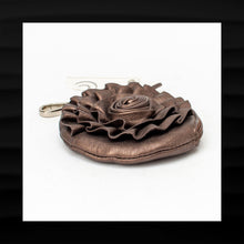 Load image into Gallery viewer, NEW! NWT! BIG BUDDHA SANTA BARBARA BROWN PU LEATHER FLOWER COIN PURSE
