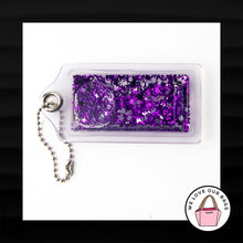 Load image into Gallery viewer, ULTRA RARE! NEW COACH XL POPPY SNOWGLOBE LIQUID GLITTER LUCITE KEY FOB KEYCHAIN TAG