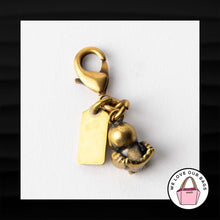 Load image into Gallery viewer, ULTRA RARE! NEW COACH CRYSTAL GOLD BIRD DINKY ROGUE BAG CHARM KEY FOB KEYCHAIN