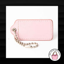 Load image into Gallery viewer, 2.5″ Large COACH NUDE FLESH PATENT LEATHER KEY FOB BAG CHARM KEYCHAIN HANG TAG