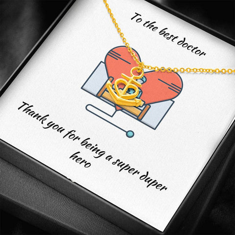Gift Necklace with Message Card To Doctor - You Are My Anchor Necklace