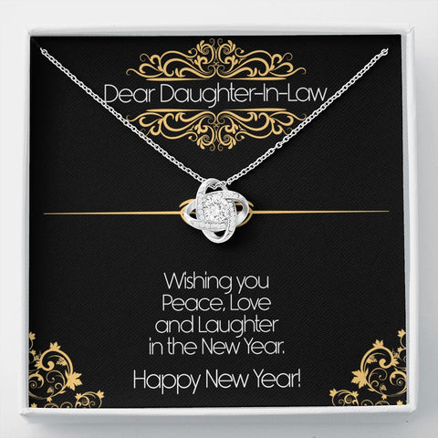 Daughter Necklace - Gift to Daughter - To Daughter-in- Law New Years Eve Gift - Knot Necklace