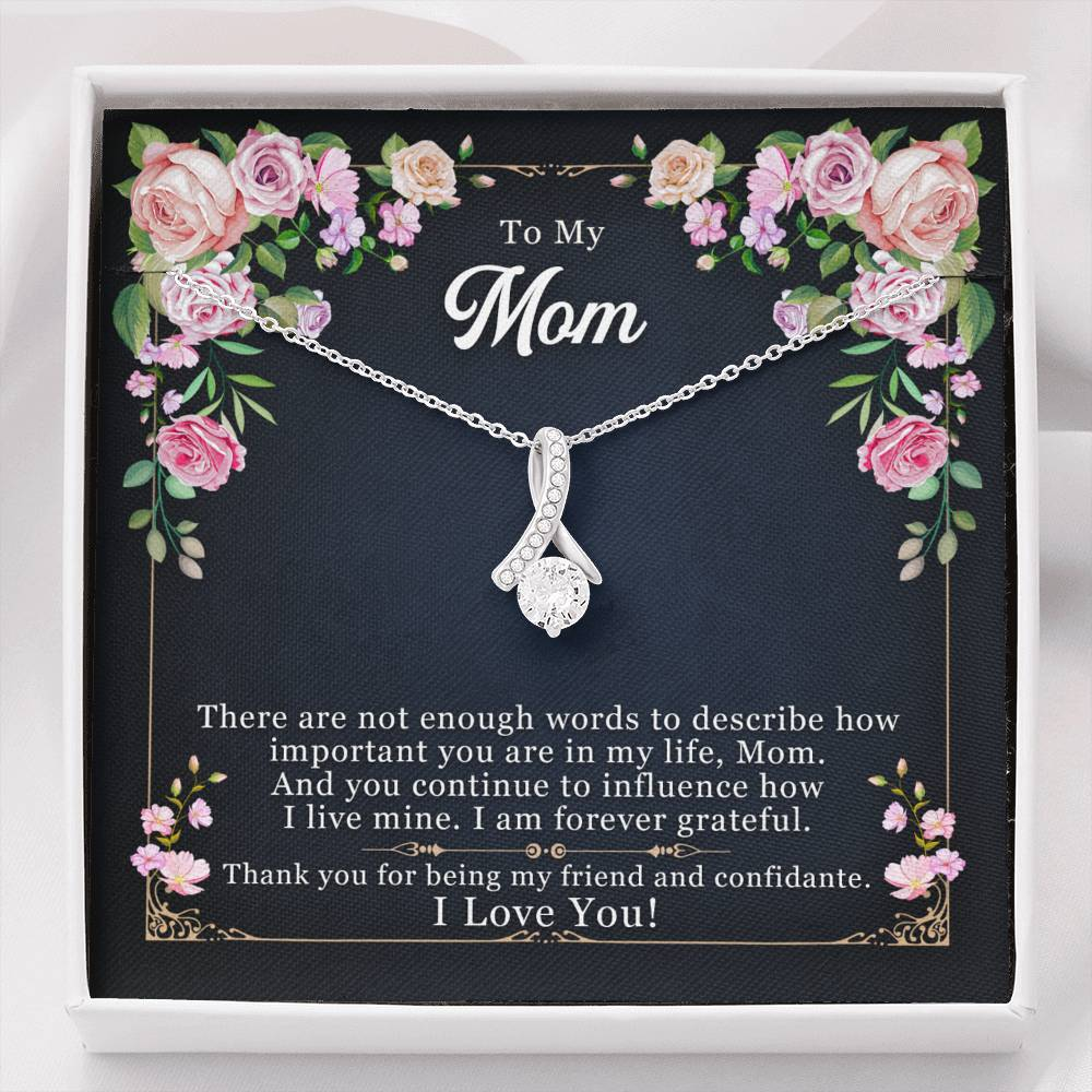 Mom Necklace - Necklace for Mom - There are not enough words to Mom The Inner Beauty Necklace