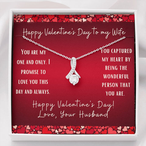 Gift Necklace with Message Card Valentine's Day Red To Wife Inner Beauty Necklace