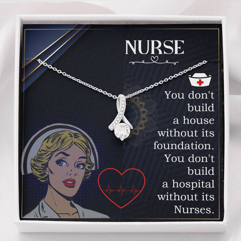 Gift Necklace with Message Card Nurse home and work The Inner Beauty Necklace