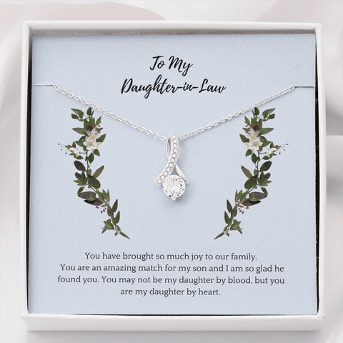 Daughter Necklace - Gift to Daughter - To Daughter-in-Law Thankful - Inner Beauty Necklace