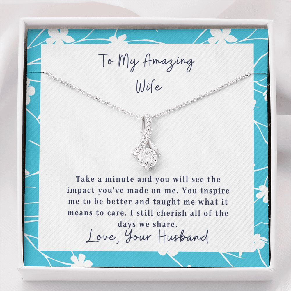 Wife Necklace - Necklace for Wife - To My Wife - The Impact - Inner Beauty Necklace