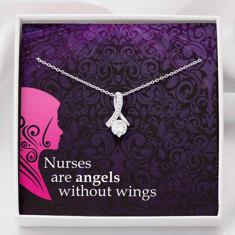 Gift Necklace with Message Card Nurses are angels The Inner Beauty Necklace