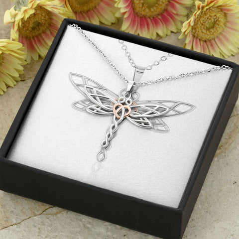 Dragonfly Necklace | Gift Necklace with Message Card