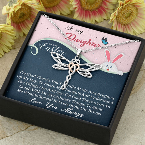 Easter Gift to Daughter | Dragonfly Necklace for Spring | Gift Necklace with Message Card  Stunning Dragonfly Necklace