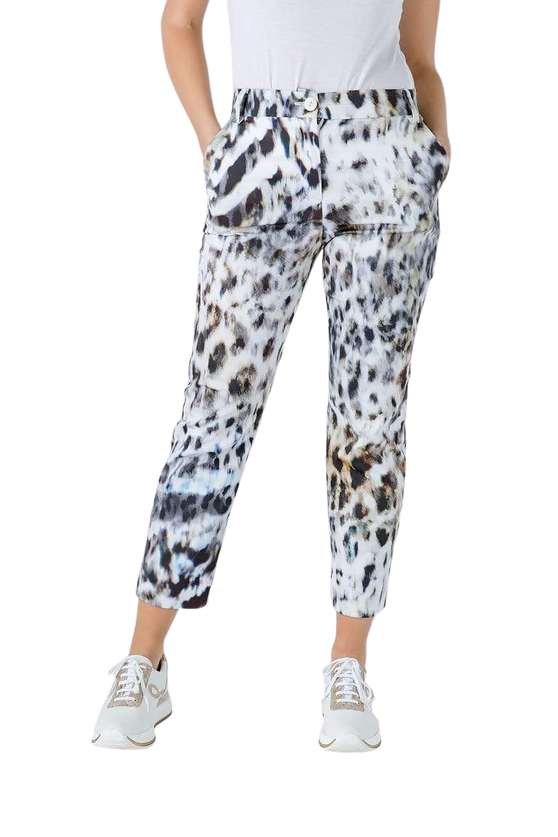Animal Print Fitted Pants - The Elia