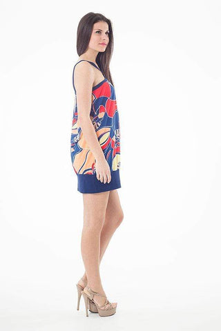 Strappy Print Mini Dress - The Sarle
