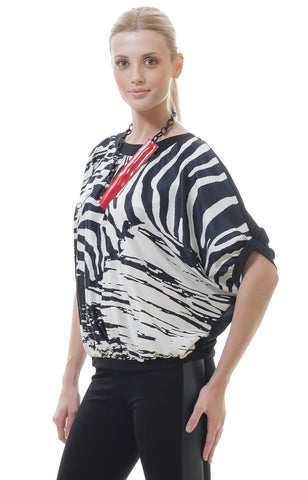 Animal Print Batwing Top - The Yalu