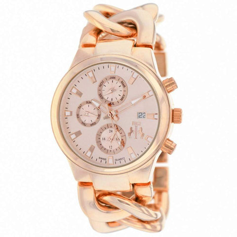 Jivago Watches Women's Fashion - Women's Watches Lev Women's Watch in Rose Tone