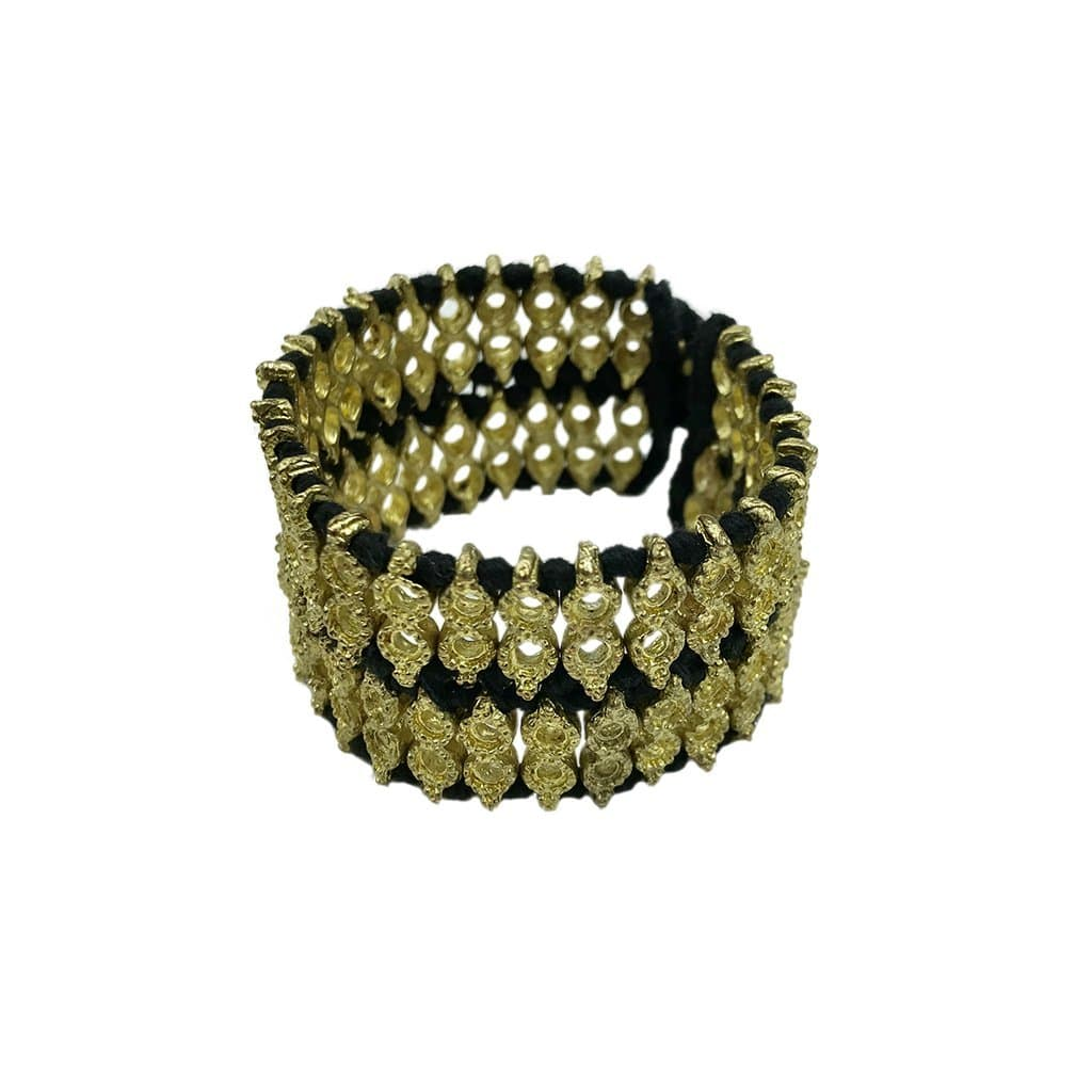 SLATE + SALT Jewelry & Accessories - Bracelets & Bangles - Cuff Bracelets Black Gold Cuff - 4 Colors Available - The Riya