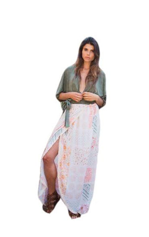 Wanderlux Women's Fashion - Women's Clothing - Skirt Wrap Skirt - Solana Style