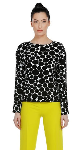 Women's Fashion - Women's Clothing - Blouses & Shirts Asymmetric Dotted Blouse - The Maya Exquise