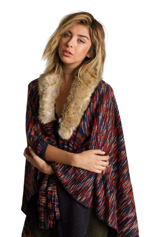 Women's Fashion - Women's Clothing - Blouses & Shirts On the Hunt Poncho - The Sienna RAGA