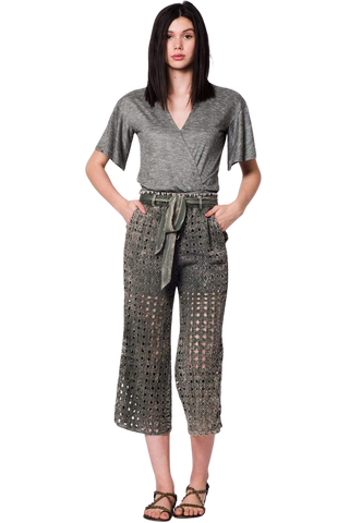 Women's Fashion - Women's Clothing - Bottoms - Pants & Capris XS Woodland Boho Chic Crop Pant - The Emma Wanderlux