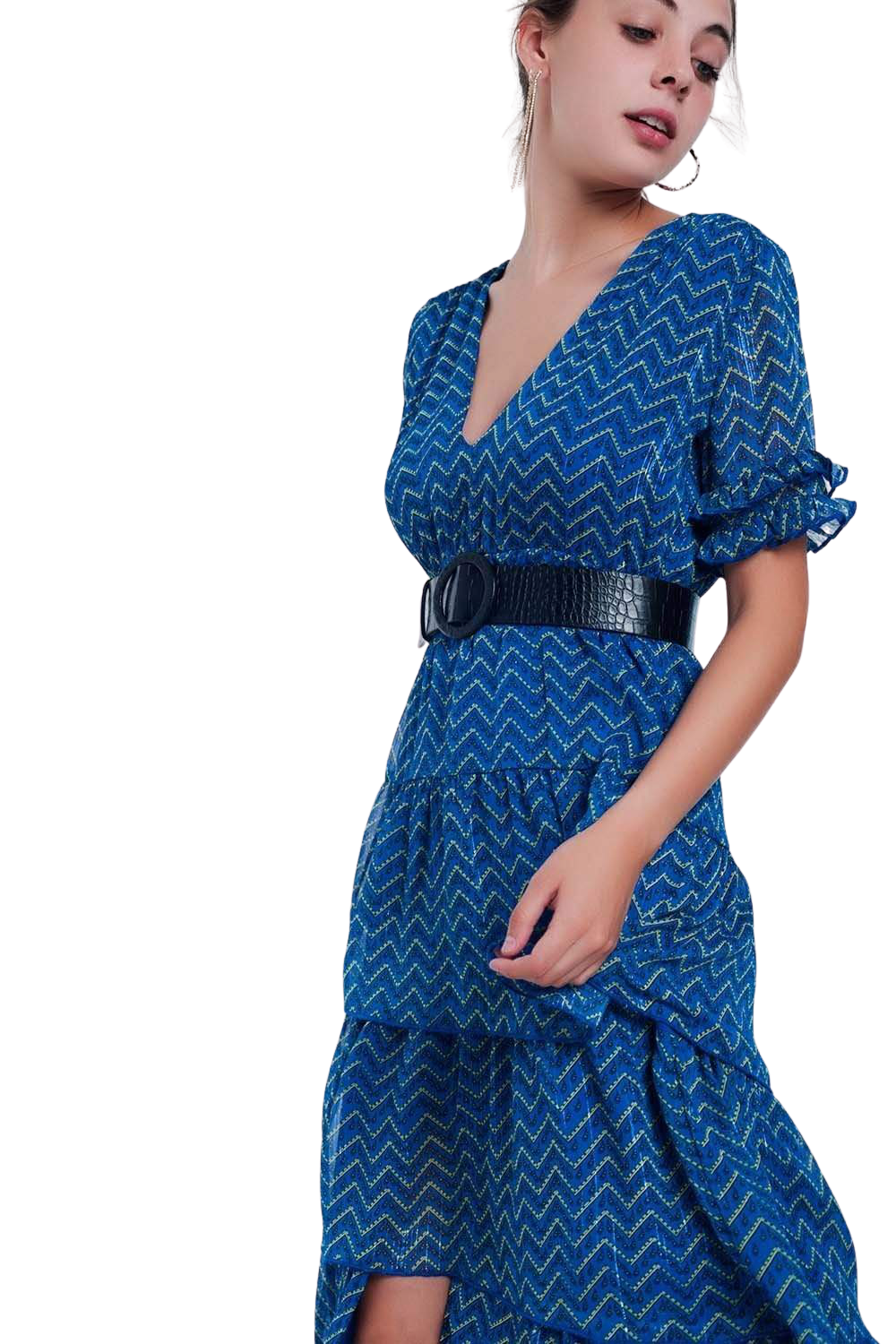 Blue Tiered Maxi Dress - The Laylana