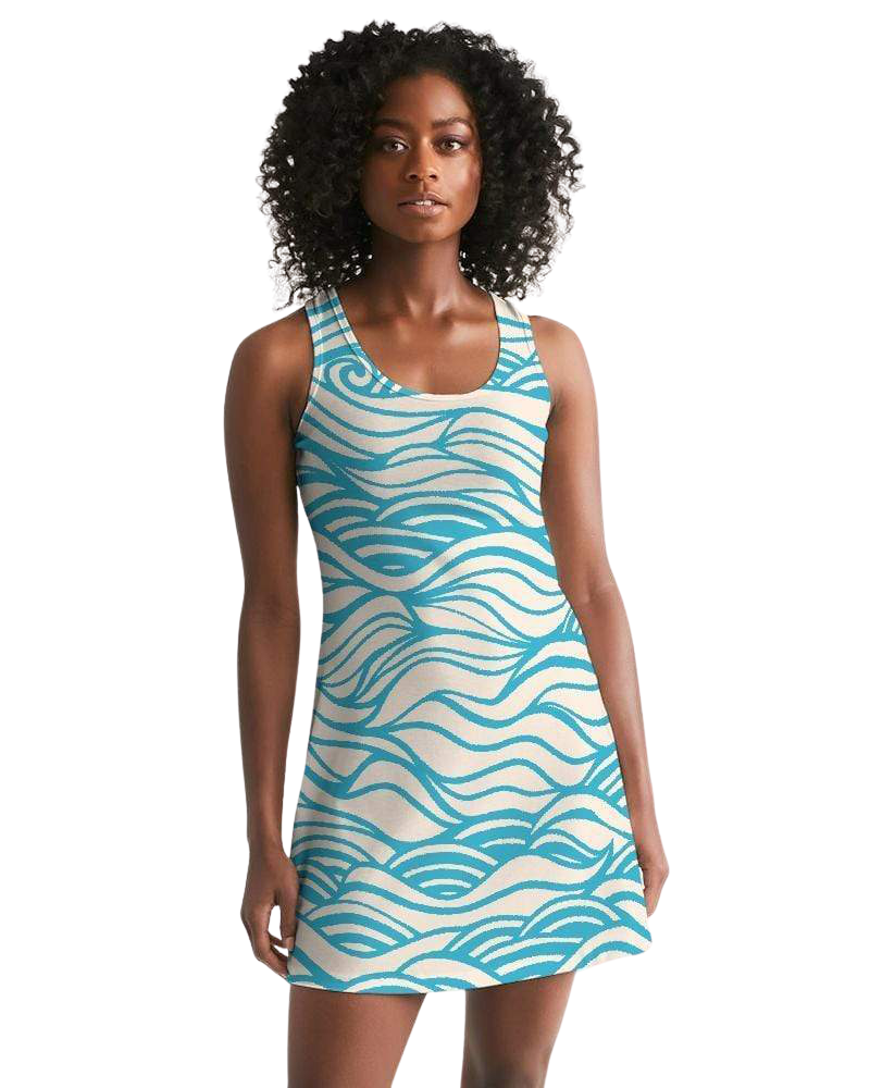 Women's Waves Casual Racerback Dress - The Mala