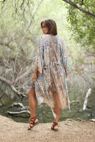 Women's Fashion - Women's Clothing - Sweaters - Cardigans Boho Chic Garden Kimono - The Laena Wanderlux