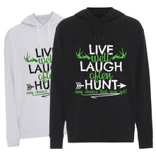 Load image into Gallery viewer, Live Well, Laugh Often - Hoodie
