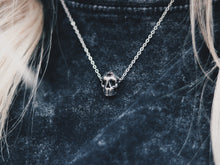 Load image into Gallery viewer, Mini Skull Necklace