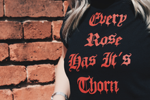 Load image into Gallery viewer, Every Rose Has Its Thorn Cropped T-Shirt