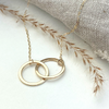 The 9ct Gold Laurel Personalised Necklace - gold personalised interlinking hoops