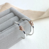 The Tanner Hoop Earrings - sterling silver hoop earrings with 12ct gold twist - mixed metal earrings