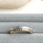 The Carolus Personalised Stacking Ring - sterling silver or 12ct gold personalised skinny stacking ring