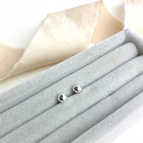 The Farden Recycled Silver Studs - sterling silver earrings - recycled silver ball stud earrings