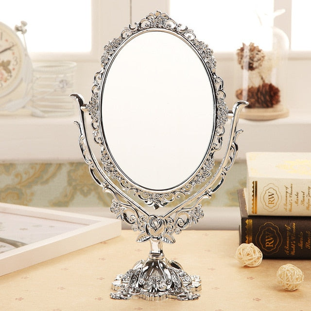 High quality Black Butterfly Rotatable Vintage Desktop Gothic Rose Stand Compact Makeup Mirror Cosmetic Tool Decor Tool NS