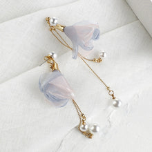 Load image into Gallery viewer, Pearl Shell Flower Earrings