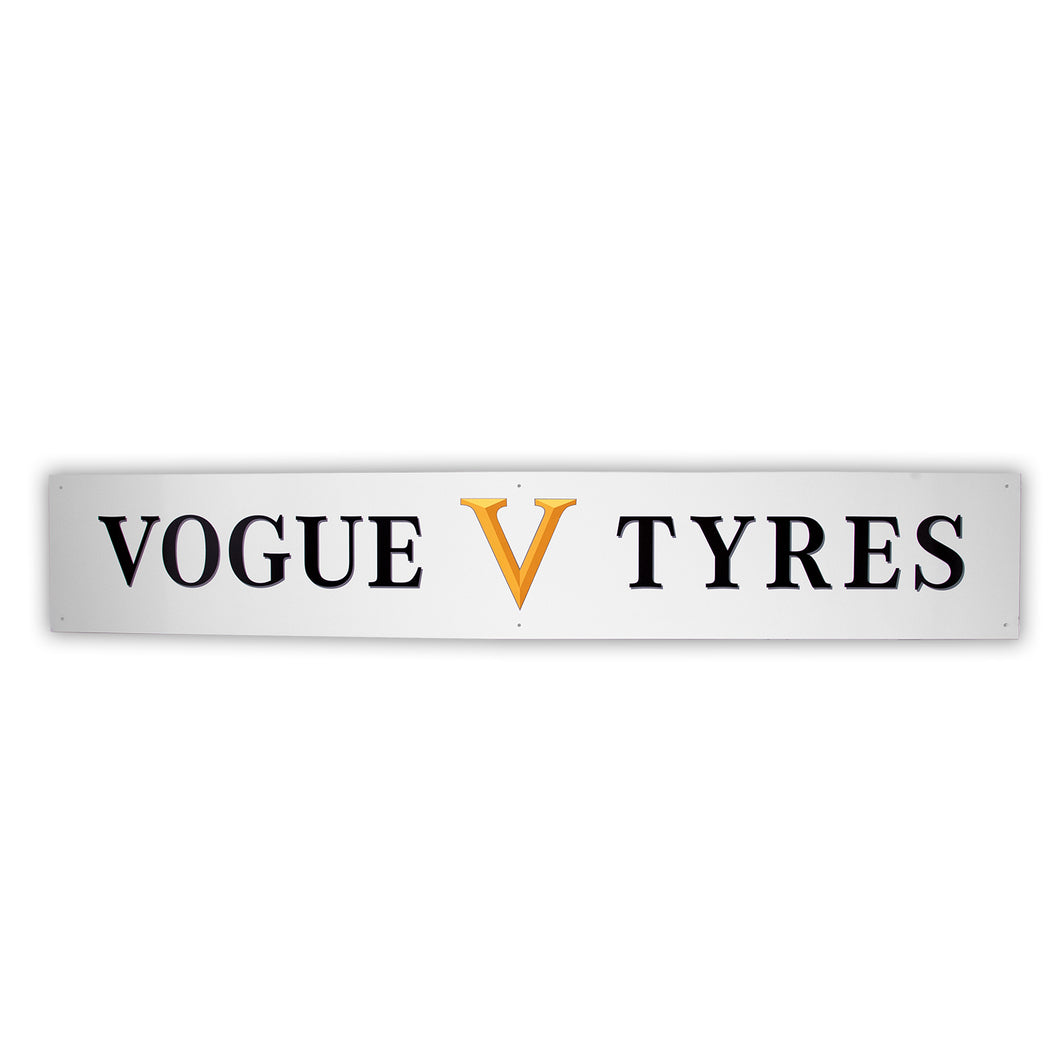 Wall Hanging Metal Vogue Tyre Sign