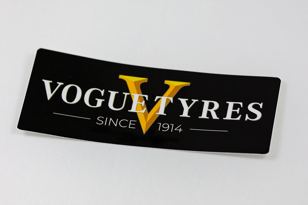 Vogue Tyre Sticker 3 Pack - Black