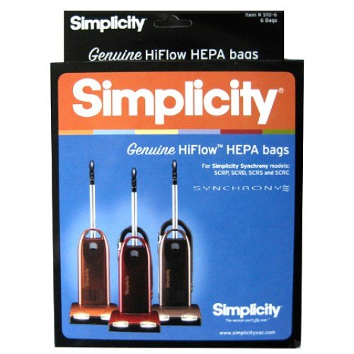 Simplicity Synchrony Type W HEPA Vacuum Bags SWH-6