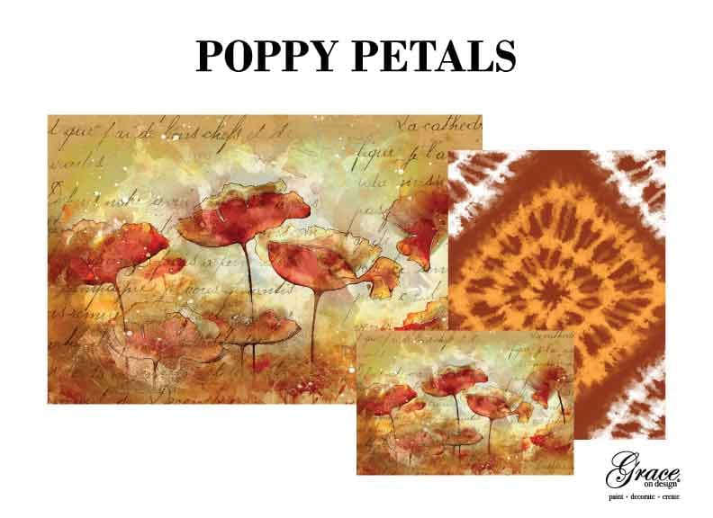 Poppy Petals - Grace on Design Decoupage Paper