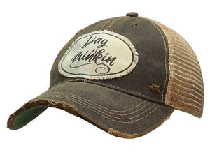 Day Drinkin' Distressed Trucker Cap